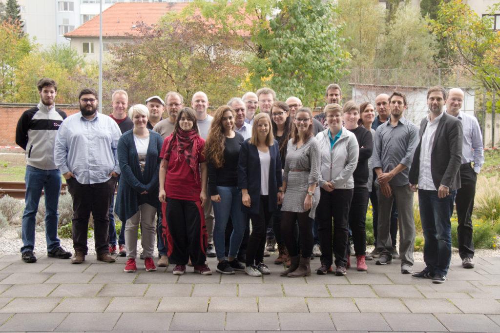 Participants at the first advisory board meeting - from left to right: Florian Taurer (St. Pölten UAS), Niklas Thür (St. Pölten UAS), Martin Schaich (Arctron 3D GmbH), Stefanie Größbacher (St. Pölten UAS), Martin Kaltenbrunner (University of Art and Design Linz), Matthias Beitl (Österreichisches Museum für Volkskunde, Magdalena Boucher (St. Pölten UAS), Markus Seidl (St. Pölten UAS), Perihan Rashed (St. Pölten UAS), Erich Schmid (Austrian Society for the Blind and Visually Impaired Vienna, Lower Austria and Burgenland), Wolfgang Aigner (St. Pölten UAS), Andrea Schönhofer (St. Pölten UAS), Martin Haltrich (Klosterneuburg Monastery), accompanying person, Gottfried Gusenbauer (Karikaturmuseum Krems), Sabine Hubner (St. Pölten UAS), Kerstin Blumenstein (St. Pölten UAS), Peter Judmaier (St. Pölten UAS), Kathrin Kratzer (Landessammlungen Niederösterreich, Danube University Krems), Ursula Emesz (Technisches Museum Wien), Walter Szevera (Technisches Museum Wien), Emanuel Angel (THISPLAY), Raphael Schneeberger (NOUS Digital), Georg Lendlmaier (Museum Niederösterreich), not presented in the picture: photographer Christoph Taucher (St. Pölten UAS).